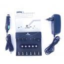 WP6II 10440/14500/14650/17670/18650/18700 XTAR Li-ion 6-channelcharger